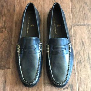 Martin Dingman Black penny loafers